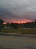sunset pochmurno Obrazy Royalty Free