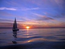 sunset pożeglować jacht Zdjęcia Royalty Free