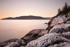 Sunset at Point Atkinson Royalty Free Stock Photos