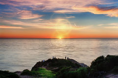 Sunset at Point Dume Royalty Free Stock Photography