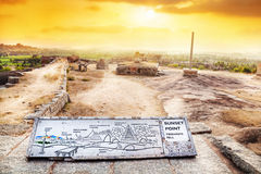 Sunset point in Hampi Royalty Free Stock Image