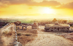 Sunset point in Hampi Stock Photos
