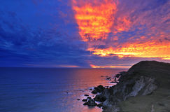 Sunset at Point Reyes Stock Photos
