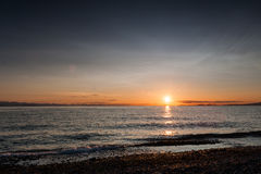 Sunset at Point Roberts beach Royalty Free Stock Photos