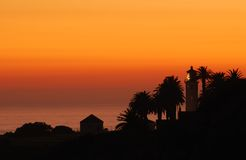 Sunset at Point Vincente. Southern California's Point Vincente lighthouse at sunset royalty free stock image
