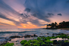 Sunset Poipu Beach - Kauai Stock Photography
