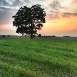 Sunset in Poland Stock Photo