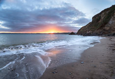 Sunset at Polkerris Stock Photo