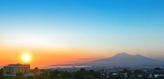Sunset at Pompeii. Royalty Free Stock Images