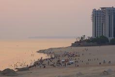Sunset at Ponta Negra Beach Royalty Free Stock Photos