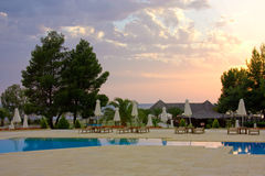 Sunset pool Royalty Free Stock Photo