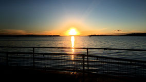 Sunset at Poole Harbour Royalty Free Stock Photos
