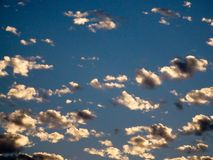 Sunset Popcorn Clouds Stock Photo