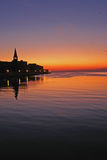 Sunset in Porec – Croatia Royalty Free Stock Photo