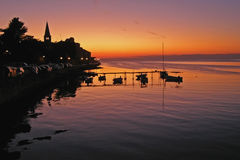 Sunset in Porec - Croatia Royalty Free Stock Photos