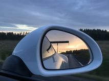Sunset in Porsche Stock Photography