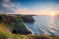 Sunset at Port Gaverne Royalty Free Stock Photos