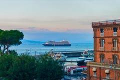 Sunset at Port of Marina Grande Sorrento. Sunset at Port of Marina Grande, Sorrento, Tyrrhenian sea, Amalfi coast, Italy Royalty Free Stock Photo