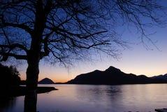 Sunset at porteau cove provincial park royalty free stock photos