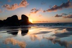 Sunset at Porthcothan Stock Photos
