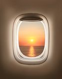 Sunset in porthole Royalty Free Stock Photography
