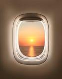 Sunset in porthole Royalty Free Stock Photography