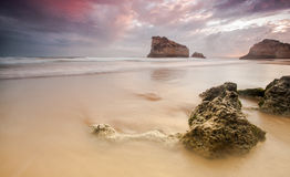 Sunset in Portimao Stock Photography