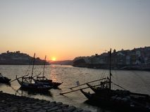 Sunset in Porto Royalty Free Stock Images