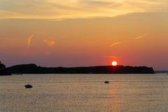 The sunset in Puglia. The sunset in Porto Cesario, Puglia, Italy stock images