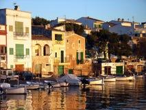 Sunset in Porto Colom. (Majorca - Balearic Islands Royalty Free Stock Photo