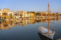 Sunset at Porto Colom. Porto Colom typical seaside village in Majorca (Spain) at sunset Stock Photos