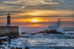 Sunset in Porto Stock Image