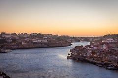 Porto sunset stock photos