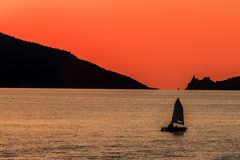 Sunset in Porto Venere Stock Photo