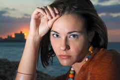 Sunset portrait Stock Image