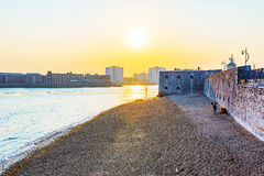 Sunset at Portsmouth seafront Royalty Free Stock Photography