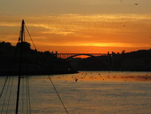Sunset in Portugal. A beautiful sunset in Porto, Portugal stock images