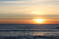 Sunset in Portugal II. A beautifull sunset in a portuguese beach. Winter day Royalty Free Stock Photo