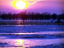 Sunset_ pourpré Photos libres de droits
