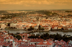 Sunset of Prague Stock Image