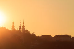 Sunset in Prague Royalty Free Stock Photo