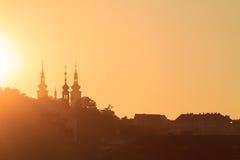 Sunset in Prague Royalty Free Stock Photo