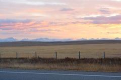 Sunset On Prairies Stock Photos