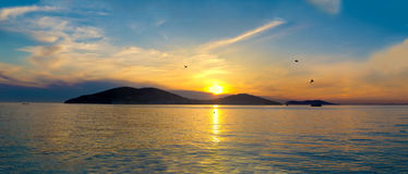 Sunset on the Princes' Islands. Turkey, Istanbul, the Marmara Se Stock Images