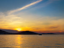 Sunset on the Princes' Islands. Royalty Free Stock Images