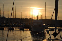 Sunset on Procida Marina. Sunset on the Procida Island Italy Stock Photo
