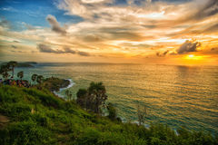 Sunset at Promthep cape Stock Photography