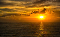 Sunset at Promthep cape Royalty Free Stock Images