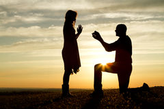 Sunset Proposal Royalty Free Stock Photos
