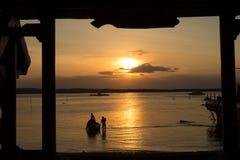 Sunset,  provinc Bali,Nusa Penida, Indonesia Royalty Free Stock Image
